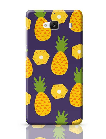 """Pineapple""  Blue background Redmi 2 / Redmi 2 Prime Covers Cases Online India"
