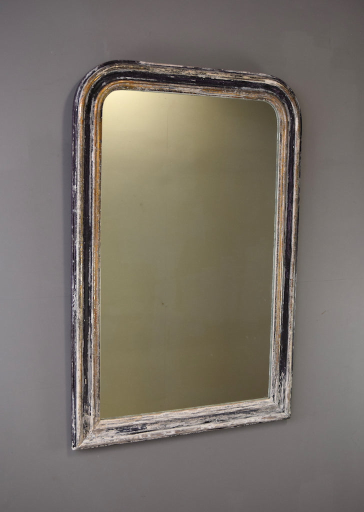 Silver Gilt & Painted French Mirror