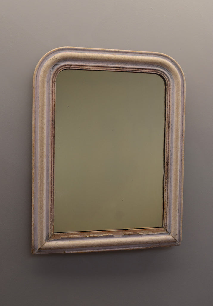 French Stripped Gesso Mirror