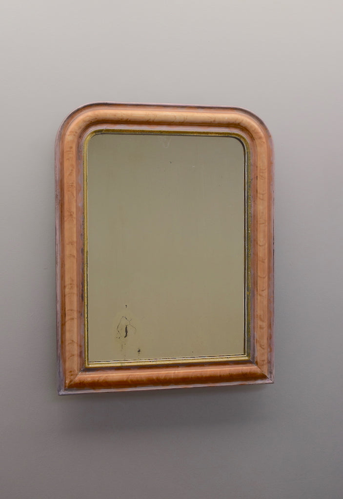 French Painted & Gilt Mirror