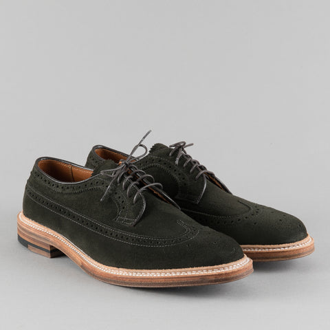 LONGWING BLUCHER HUNTING GREEN SUEDE D5501