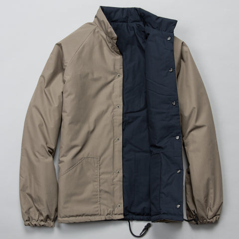 REVERSIBLE COTTON SHELL COACH JACKET GRIEGE/NAVY
