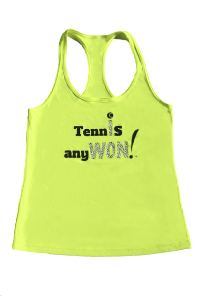 Tennis AnyWon Safety Yellow Racer Tank
