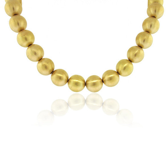 18k Yellow Gold Ball Necklace
