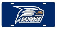 Georgia Southern Eagles Navy Acrylic Tag with Reflective Decal