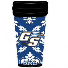 Georgia Southern 18 oz Travel Mug - Damask