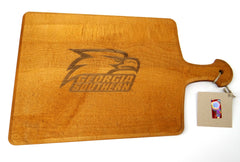 Georgia Southern Eagles Artisan Paddle Maple Cutting Board