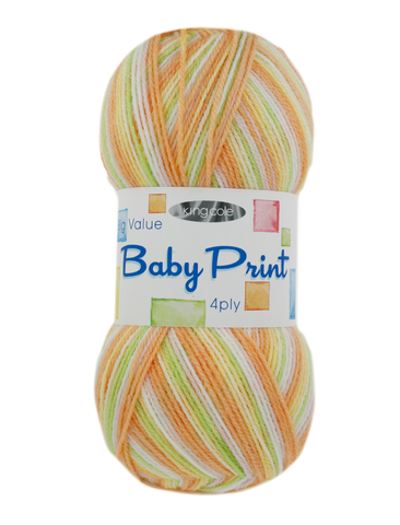 King Cole Big Value Baby Print 4 Ply 100g