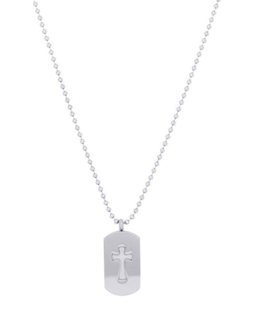 dog tag cross diffuser necklace
