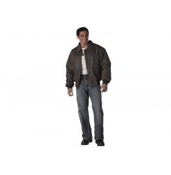 Classic A-2 Brown Leather Flight Jacket