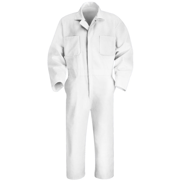 Red Kap Twill Action Back Coverall- WHITE