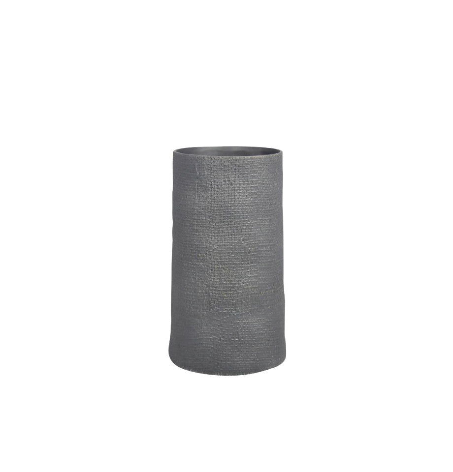 Hessian Column Planter - Black - Medium