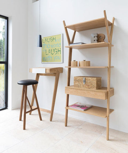 Tree Tree Shelving Unit - Solid & Veneered Oak