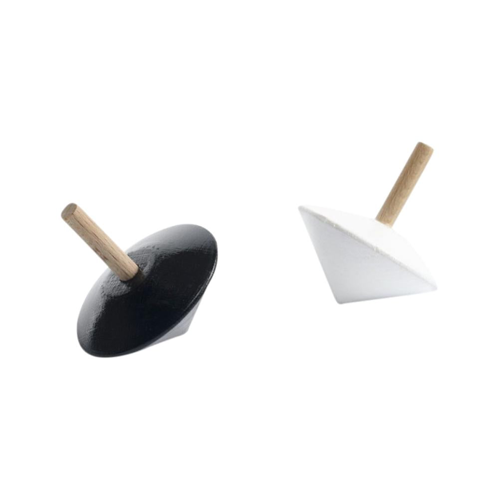 Sarah and bendrix montreal quebec canada toupie monochrome spinning top jouet toy wooden bois