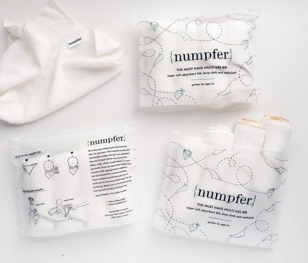 Numpfer essential essentiel montreal quebec canada get me a numpfer essential multi-use bibs bib bundle bavoir essentiel multi-usage paquet de 4 bébé baby washcloth débarbouillette