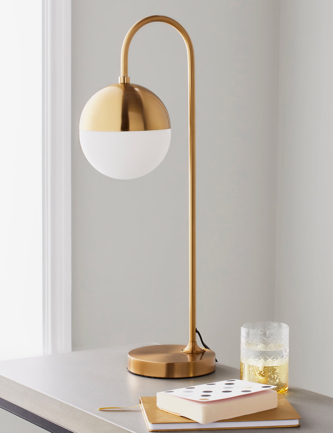 Gold Globe Table Lamp