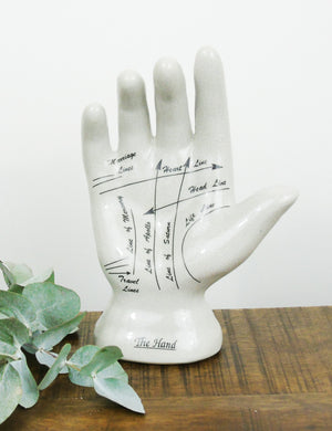 Palmistry Phrenology Hand Ornament