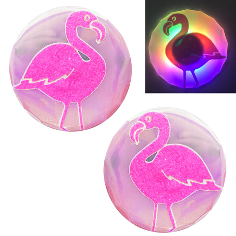 Pink Flamingo Light-Up LED Pasties by Sasswear