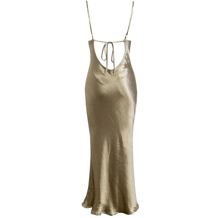 Calia Satin Ankle Dress Champagne