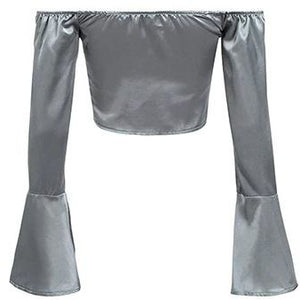 Shelle Satin Blouse Grey