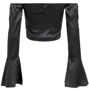 Shelle Satin Blouse Black