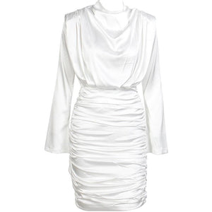 Tyanna Ruched Satin Dress