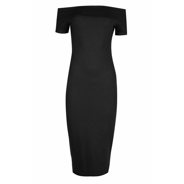 Tessa Bardot Dress Black