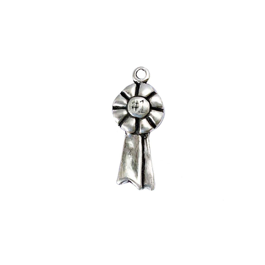 Blue Ribbon Charm - Sterling Silver