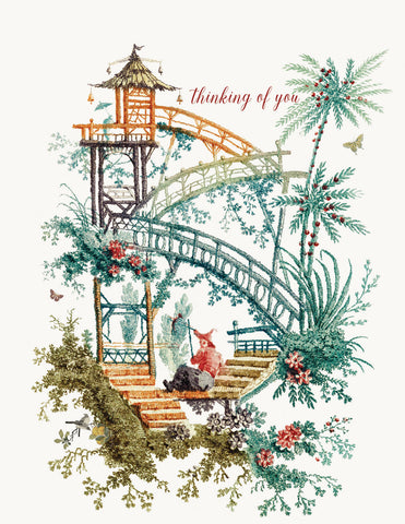 Chinoiserie - Thinking of you • A-2 Greeting Card