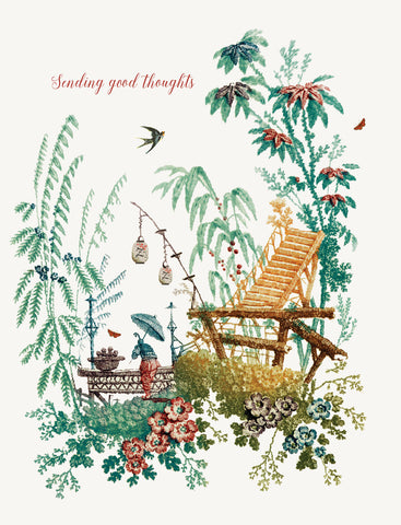 Chinoiserie - Sending Good Thoughts • A-2 Greeting Card