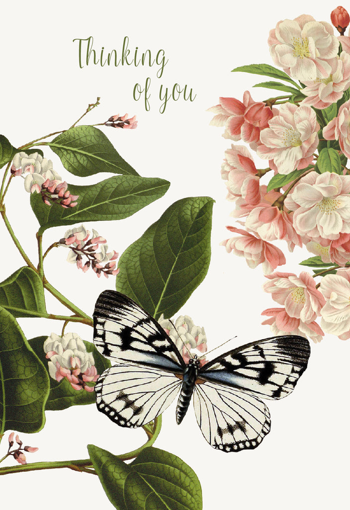 Thinking of you (flower butterfly) • A-2 Greeting Card