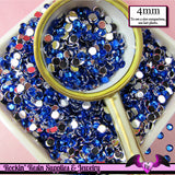 200 pcs 4 mm DARK BLUE RHINESTONES Flatback Great Quality 16ss - Rockin Resin  - 2