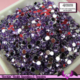 200 pcs 4 mm LIGHT PURPLE RHINESTONES Flatback Great Quality 16ss - Rockin Resin  - 1