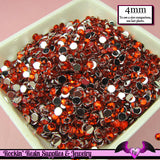 200 pcs 4 mm RUBY RED RHINESTONES Flatback Great Quality 16ss - Rockin Resin  - 1