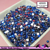 200 pcs 4 mm DARK BLUE RHINESTONES Flatback Great Quality 16ss - Rockin Resin  - 1