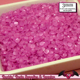 300 pcs 3mm PINK VIOLET Decoden Faceted Flatback Candy Rhinestones - Rockin Resin  - 2