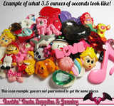 GRADE B Seconds GRAB BaG 3.5 ounces of Resin Decoden Flatback Cabochons, Cameos, and Cameo Settings - Rockin Resin  - 2