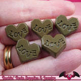 Kawaii LOVE CHOCOLATE CANDY Cabochons / Resin Decoden Cabochons (8 pieces) - Rockin Resin