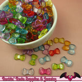 50 pc Small Acrylic BOW Beads 16x9mm - Rockin Resin  - 1