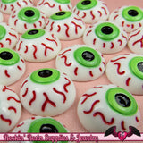 5 pc EYE BALL Creepy Halloween Decoden Flatback Kawaii Cabochons 16mm - Rockin Resin  - 1