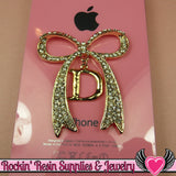 D Initial Rhinestone Gold Alloy Girly DIY Cabochon Cellphone Decoration - Rockin Resin  - 2