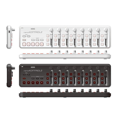 Control Surfaces - Korg NanoKONTROL 2 Slim-Line USB Control Surface WHITE