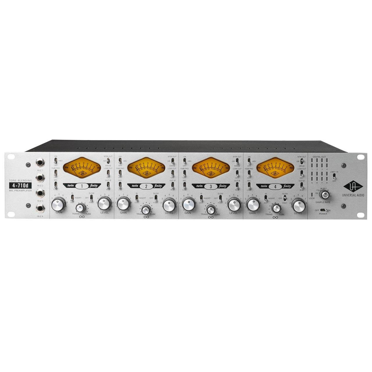 Universal Audio 4-710d Four-channel Microphone Preamplifier