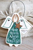 Home Health Care Nurse Gift Salt Dough Ornament
