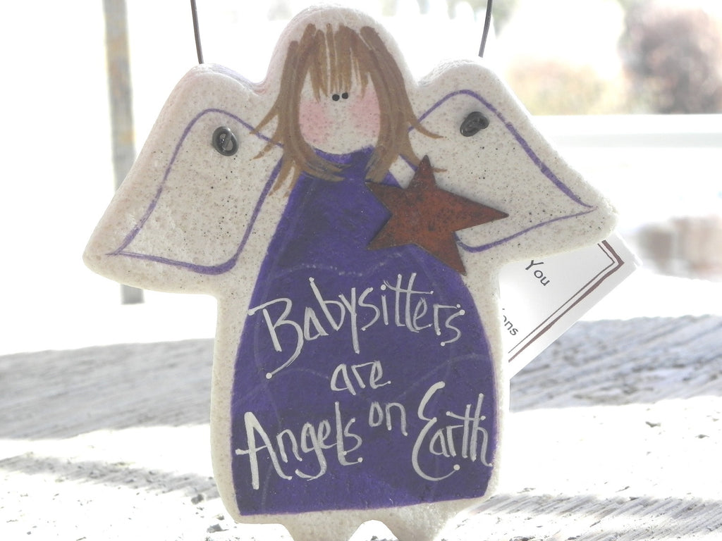 Purple Babysitter Thank You Ornament