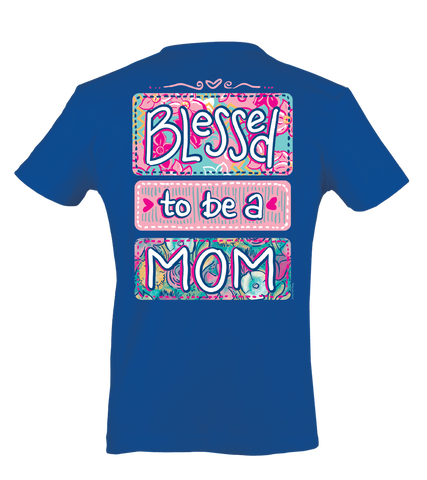 Itsa girl Thing Blessed to be a Mom Mother Heart Momma Bright Girlie T-Shirt