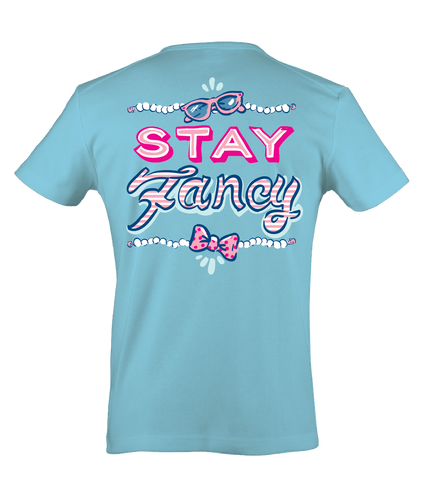 Itsa girl Thing Stay Fancy Pearls Bow Sunglassses Southern Bright Girlie T-Shirt