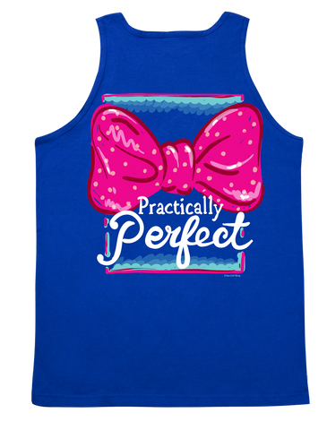 Itsa girl Thing Funny Practically Perfect Big Bow Southern Bright Girlie Tank Top Shirt