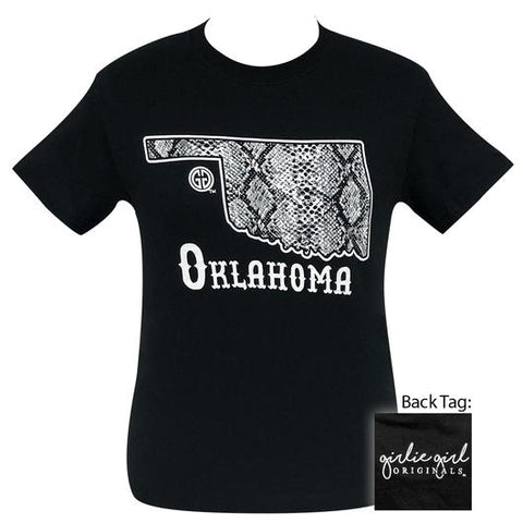 Girlie Girl Originals Preppy Oklahoma Snake Skin T-Shirt