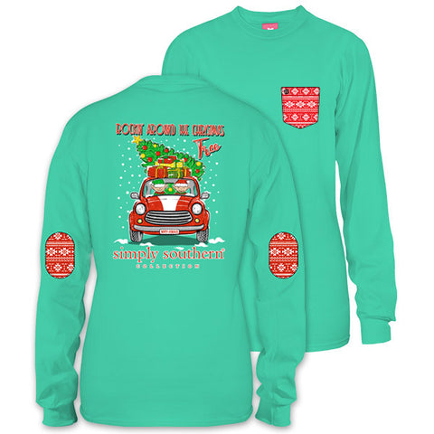 SALE Simply Southern Preppy Elf Christmas Tree Long Sleeve T-Shirt